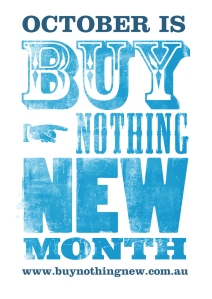 Buy Nothing New Month poster