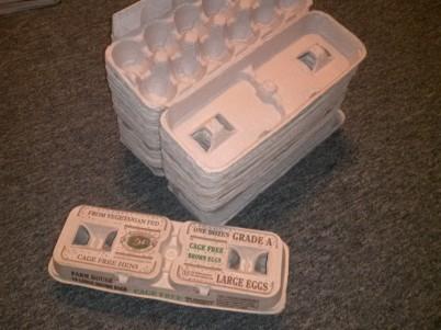 Cardboard egg cartons