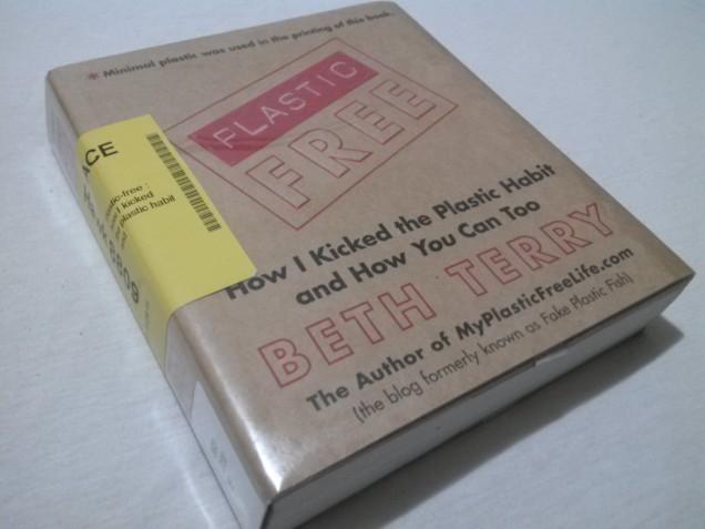 Plastic-Free book in plastic wrap