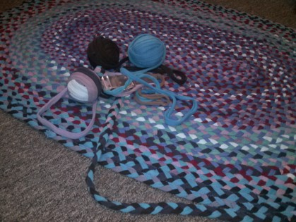 Braided Tshirt Rag Rug #3